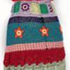 1960s Psychedelic OOAK Hippie Folk Art Crocheted Dress