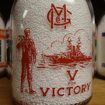 GENEVA MILK COMPANY...GENEVA NEW YORK...WAR SLOGAN MILK BOTTLE - Bottles