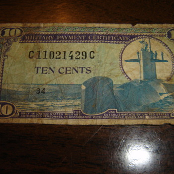 Military Payment Certificates - Military and Wartime