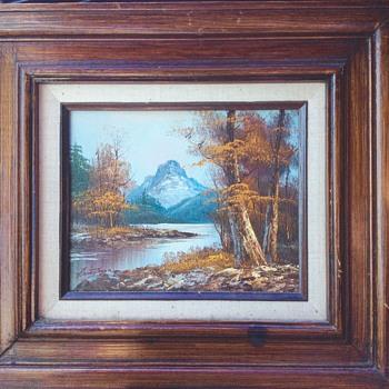 Mountain scene oil paining, can't decipher artist signature - Fine Art