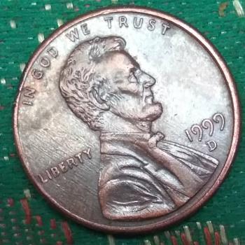 1999 d penny nose error ? - US Coins