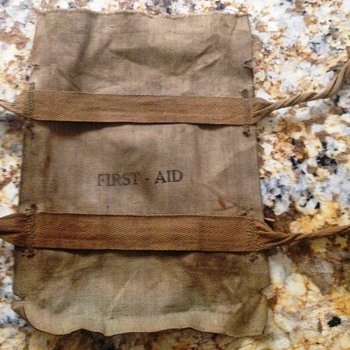 ONE MORE ITEM FROM THE OLD TRUNK - A FIRST AID PACK - Military and Wartime