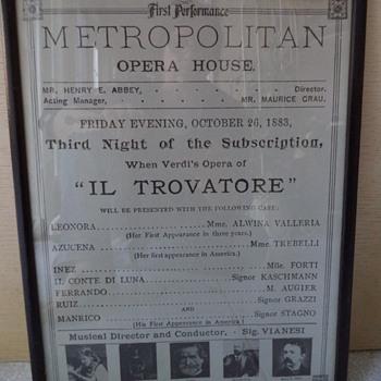 Opera Memorabilia - Posters and Prints