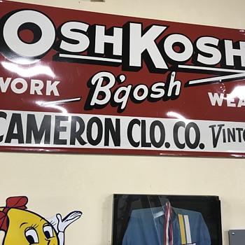 Oshkosh-B'qosh  sign  - Advertising