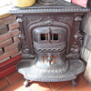 2 Cast Iron Corner Parlor Stoves J.L.Mott New York and Southard and Robertson Peekskil New York