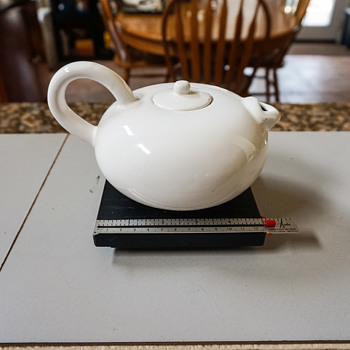 White Tea Pot with Short Spout - China and Dinnerware