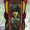 Stained Glass Panel in the Style of Alphonse Mucha