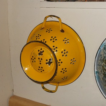 Enamelware Colander From Japan - Kitchen