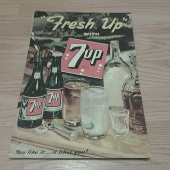 """Fresh Up"" With 7 Up Sign - Signs"