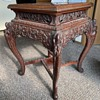Antique Chinese Rosewood Dragon Bamboo Carved Table