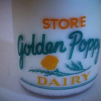 """Golden Poppy Dairy """"DENT"""" Milk Bottle...... - Bottles"""