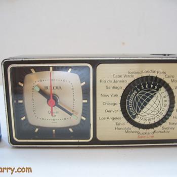 How cool is this?...Vintage Bulova Quartz Miniature World Time Alarm  Clock - Clocks