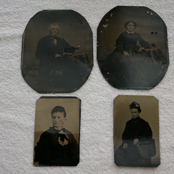Tintype  photos from my ancestry....