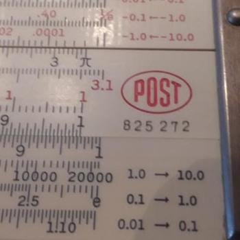 Post 1460 Versalog Slide Rule #825 272 - Office