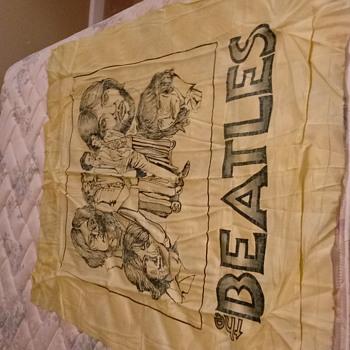 Beatles silkscreen concert banner 66 69 concert - Music Memorabilia