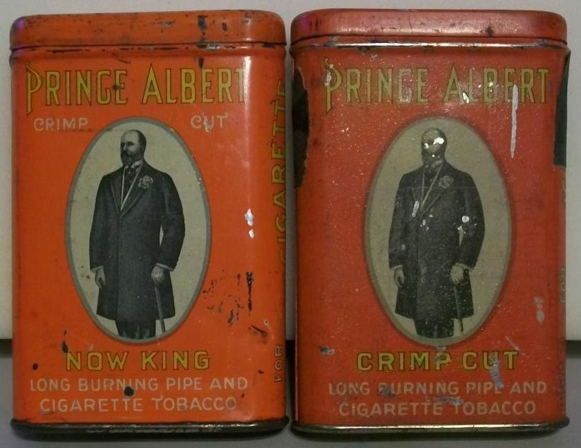 Prince albert tobacco cans