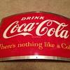 Coca-Cola Barrel Dispenser Sign