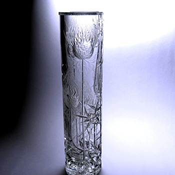 Cut glass vase by Josef Švarc and Jirina Žertová, Sklárny Bohemia Glassworks, Podebrady - Art Glass