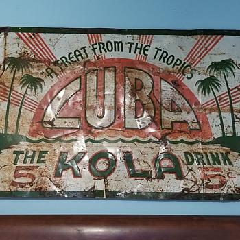 Cuba kola soda sign  - Signs