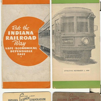Indiana Railroad (Interurban railroad) - Railroadiana