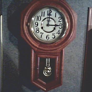 D & E 31 Day Regulator Wall Clock / Hour Chime with Half Hour Strike / Circa 1970-80 - Clocks