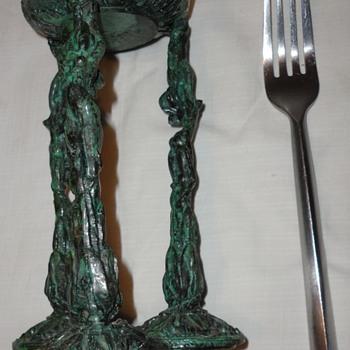 Vintage Iron Sculpture 3 figures - Fine Art