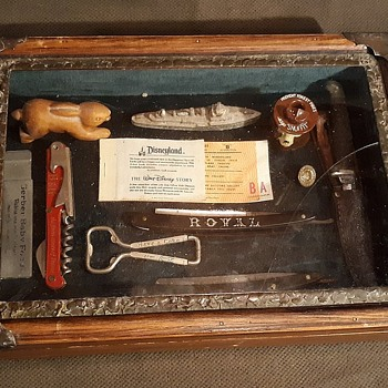 Vintage Wood Table Top Display Case  - Furniture