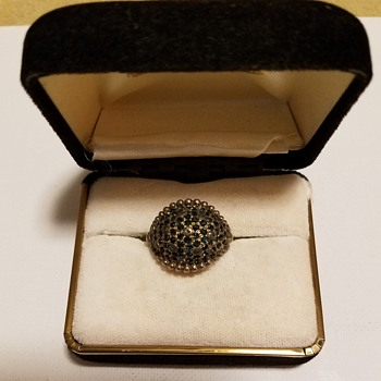 Antque  ring mark Ciner Pat Pend ,Antique Victorian ring, antique brooch - Costume Jewelry