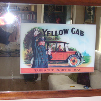 Yellow cab Advertising Mirror - Advertising