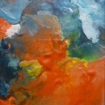 "Kaye Rogers encaustic painting, ""Radiance"" - Fine Art"