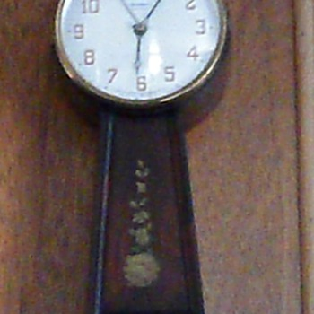 waterbury electric banjo clock