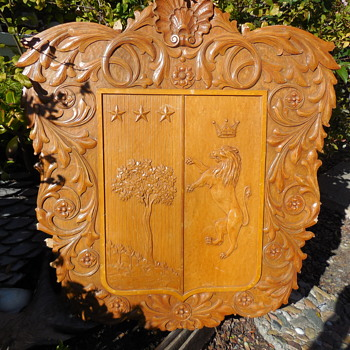 Carved Wood Wall Plaque...British Pub Wall Art?  - Fine Art