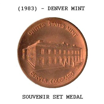 1983 - U.S. Mint Souvenir Set Medal - Denver - US Coins