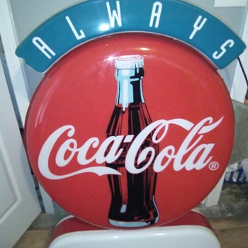 Interesting Plastic Coke Sign - Coca-Cola