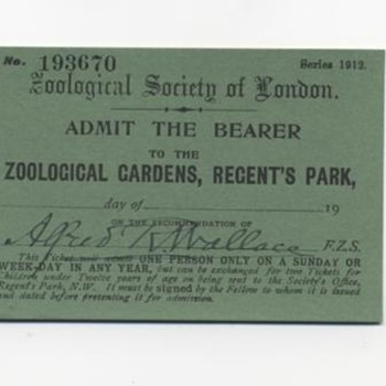 London Zoo Tickets / 1912 & 1920 / signed