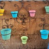 Wrought Iron Pot Hangers and Old Pots