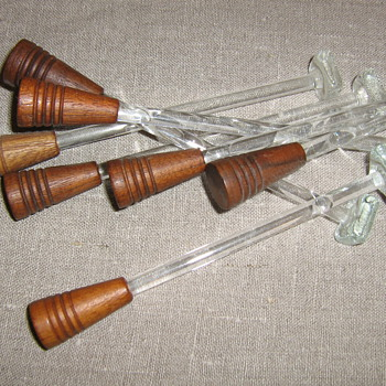 1950's Tiki drink stirrers and bottle stoppers from Hawaii - Breweriana