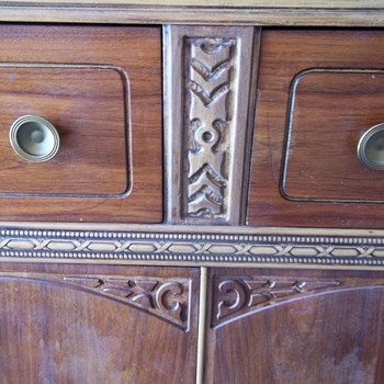Antique buffet or bar