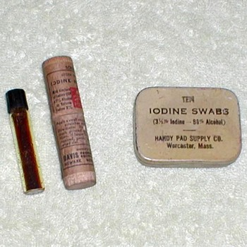 1940's - Iodine Vial and Swabs - Advertising