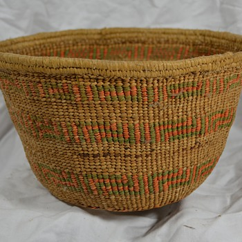 Old Hand Woven Native Basket - Native American