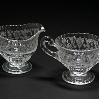Unknown pattern on sugar bowl and creamer