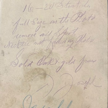 Notations on the back of copied photos - Photographs