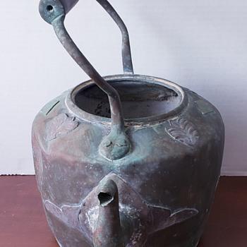 Old kettle tilted handles rare embellishments  - Kitchen