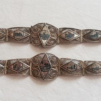 More 1930s Egyptian silver filigree bracelets - Fine Jewelry