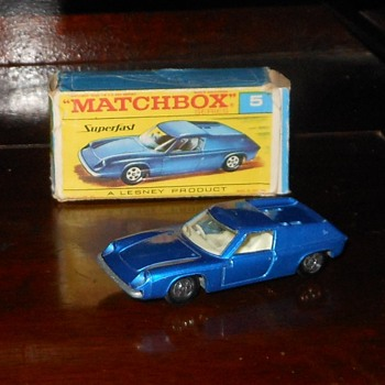 Miracle Mile Matchbox Monday MB5 Lotus Europa With Transitional Superfast Box - Model Cars