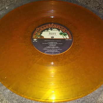 Kiss...On Orange 33 1/3 RPM Vinyl - Music Memorabilia