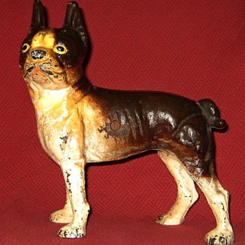 Vintage Left Facing Boston Terrier Doorstop - Animals