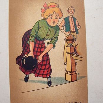 1911,SHEET MUSIC, SALLY IN OUR ALLEY (BOWLING!!  )I WAS SURPRISED WOMEN BOWLED BACK THEN. - Music Memorabilia