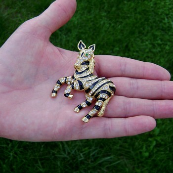 Trifari Safari TM Brooch - Costume Jewelry