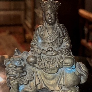 Buddha Sitting on a Lion - Asian